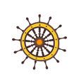 cartoon style ship steering wheel vector image