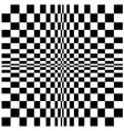 Chequerboard design vector image