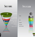 Conversion or sales funnel 3d graphics vector image
