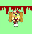Dead bloody dog vector image