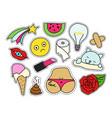 fashion patch badges set vector image