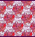 love letter valentines day cute seamless pattern vector image