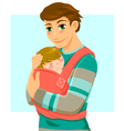 man and baby vector image