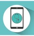 Medical health application stethoscope design vector image