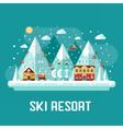 Mountains Ski Resort Landscape vector image
