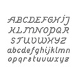 Rounded Double Line Font vector image