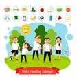 Sport children summer activity vector image