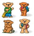 Teddy bears vector image