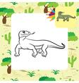 varan coloring page vector image