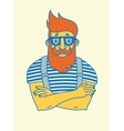 vintage hipster with beard and mustache vector image