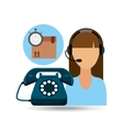 call centre woman working delivery time vector image