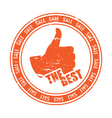 THE BEST stamp vector image vector image