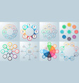business infographics diagrams with 8 steps vector image vector image