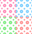 Colorful seamless pattern with flowers tiling vector image vector image