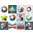 infographics templates set Template for vector image