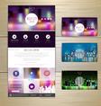 Night city concept Web site design vector image
