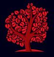Art of autumn branchy tree stylized ecology symbol vector image