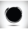 Black grunge circle background vector image