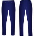 blue pants vector image