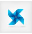 blue pinwheel symbol vector image