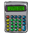 cartoon image of calculator mathematics symbol vector image