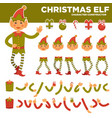 christmas elf character constructor with body vector image