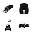 forester buttock and other web icon in black vector image