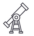 visiontelescope line icon sign vector image