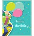 cakebirthday vector image