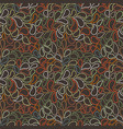 seamless pattern of stylized leaves and vector image