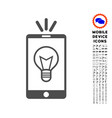 mobile lamp light icon with set vector image