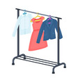 a hanger with things in the wardrobemaking movie vector image