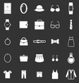 Dressing icons on black background vector image