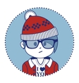 Santa Claus dressed in a trendy hipster style vector image