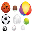 Egg Shaped Sport Balls vector image