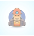 Miner worker icon Avatar and person vector image