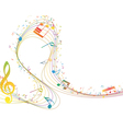 notes music color vector image