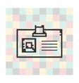 pixel icon badge on a square background vector image