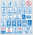 accesible parking signs disabled people parking vector image