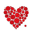buttons collection heart shape sketch for your vector image