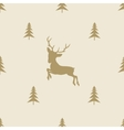 christmas reindeer seamless line pattern tile vector image
