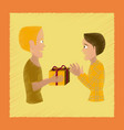 flat shading style icon friends gift vector image