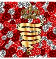 golden banner and crown vector image