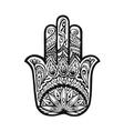 hamsa hand drawn symbol Decorative amulet vector image