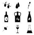 olive oil icon set vector image