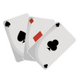 poker cards isolated icon vector image