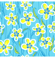 seamless pattern with decorative flowers and leave vector image