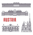 Historic buildings and sightseeings of Austria vector image
