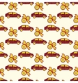 Automotive seamless pattern with car and service vector image