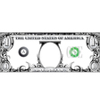 Tribal dollar bill vector image